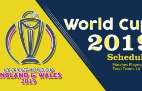 ICC Cricket World Cup Schedule 2019