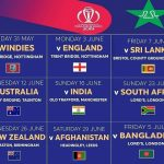Pakistan Cricket Team Schedule, Fixture, Time Table for ICC Cricket World Cup 2019