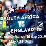 England vs South Africa 1st ODI 30th May ICC Cricket World Cup 2019 Live Crichd, Crictime, Mobilecric, Smartcric Streaming HD