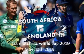 England Vs South Africa , 1st ODI ICC CWC 2019 Live Match
