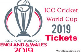 ICC Cricket World Cup Tickets 2019