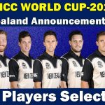 New Zealand National Cricket Team for ICC World Cup 2019