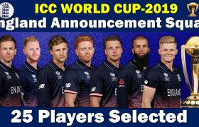 England Cricket team squad for ICC CWC 2019