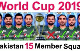Pakistan team squad for icc world cup 2019