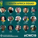 South Africa National Cricket Team for ICC Cricket Word Cup 2019