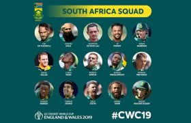 South Africa Team Squad for ICC CWC 2019