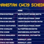 Afghanistan Cricket Team Schedule Of All Matches Of ICC World Cup 2019
