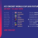 South Africa Cricket Team Schedule Of All Matches Of ICC Word Cup 2019