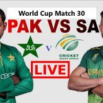 Pakistan vs South Africa 30th ODI Live Streaming World Cup 2019 Crichd, Crictime, Mobilecric, Smartcric, Sonyliv Live Streaming