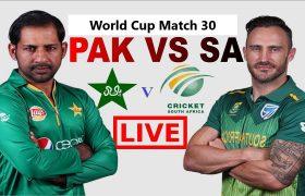 South Africa VS Pakistan 30th ODI Live Streaming