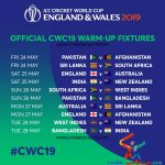 ICC Cricket World Cup 2019 Warm-Up Matches Live Score, Schedule And  All Live TV Broadcasting  Channels List