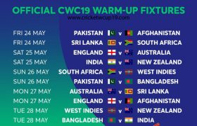 ICC Cricket World Cup 2019 Warm-Up Matches Live Score