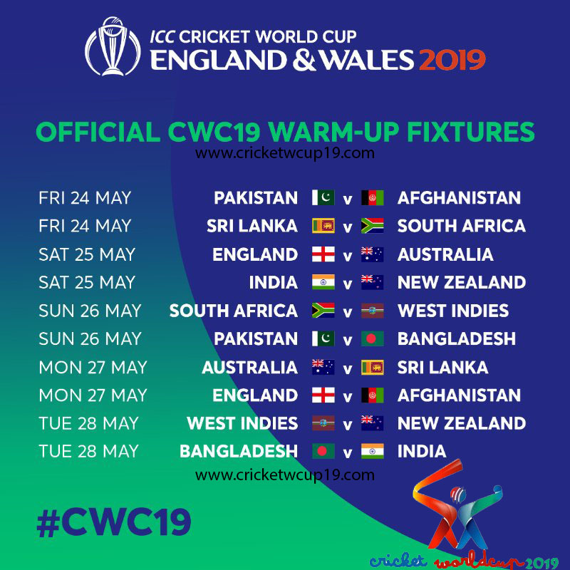 icc cricket world cup 2019 warm up matches live score schedule and all live tv broadcasting channels list icc cwc 2019