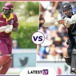 West Indies vs New Zealand 29th ODI Live Streaming World Cup 2019 Crichd, Crictime, Mobilecric, Smartcric HD Match
