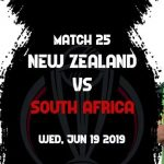 New Zealand vs South Africa 25th ODI Live World Cup 2019 Crichd, Crictime, Mobilecric, Smartcric Streaming