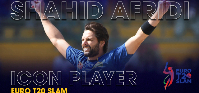 Shahid Afridi Icon Player of Euro T20 Slam
