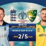 England vs Australia 32nd ODI Live World Cup 2019 Crichd, Crictime, Mobilecric, Smartcric Streaming HD