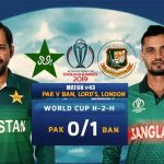 Pakistan vs Bangladesh 43rd ODI Live Streaming World Cup 2019 Crichd, Crictime, Mobilecric, Smartcric Live HD