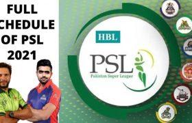 PSL Schedule 2021