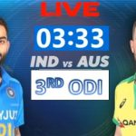 India Vs Australia Live Cricket Score 2020 3rd ODI- Australia Tour to India