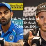 India Vs New Zealand Live Cricket Score 2020 2nd T20- India Tour to New Zealand