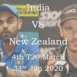 India vs New Zealand 4th T20 Match Live