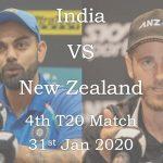 India vs New Zealand 4th T20 Match Live