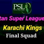 Karachi Kings Team Squad PSL 2020 - Live Streaming Score Schedule Players Of KK for PSL 13