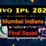 Mumbai Indians Team for IPL 2020 Squad Live Streaming Score Schedule Players IPL 13