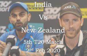 India vs New Zealand 5th T20 Match 2nd Feb 2020