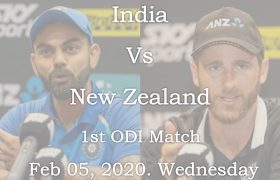 India vs new zealand 1st ODI Match 2020