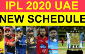 UAE Schedule of IPL 2020