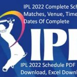IPL 2022 Schedule PDF Download Time Table Live Cricbuzz Team Venue Points Table Ranking & Winning Prediction