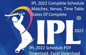 IPL Schedule 2022